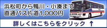 浜松町から鴨川・小湊まで直通バス1,000円
